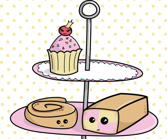 Cute Cake Poster: Bakery Jealousy Cakes with Faces