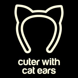 Cuter with Cat Ears Glow-in-the-Dark T-Shirts