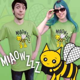 Bright Bumblebee Cat T-Shirts