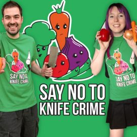 Bright Say No to Knife Crime T-Shirts