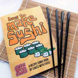 How to Make Sushi Comic Recipe Book