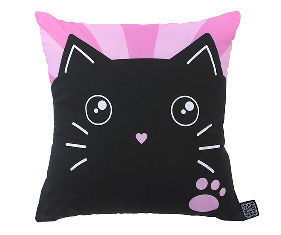 Cute Cat Cushion Cakes with Faces