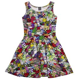 Colourful Cute Explosion Dress